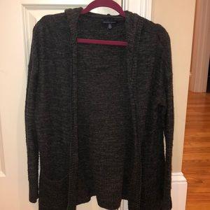 AE Charcoal grey hooded cardigan